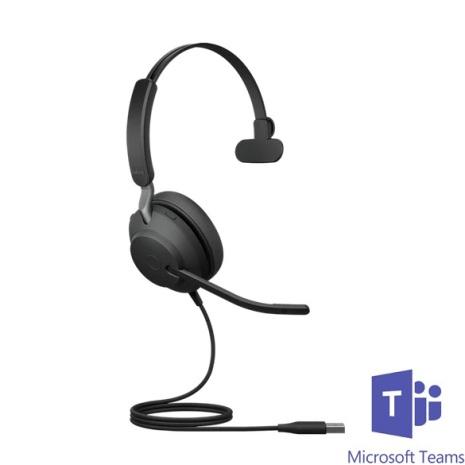 Jabra Evolve2 40 Mono MS Teams USB-A