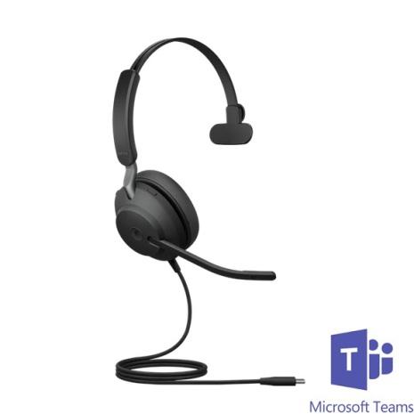 Jabra Evolve2 40 Mono MS Teams USB-C