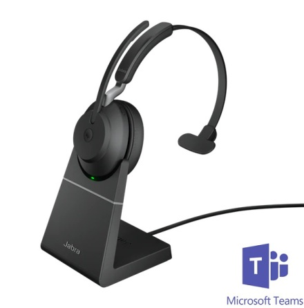 Jabra Evolve2 65 Mono MS Teams USB-C med laddställ