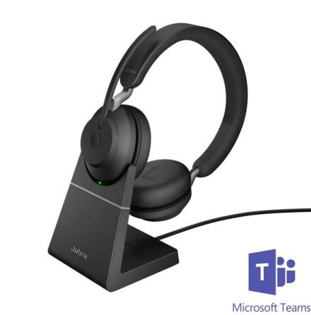 Jabra Evolve2 65 Stereo Teams USB-C med laddställ