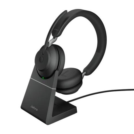 Jabra Evolve2 65 Stereo UC USB-A med laddställ
