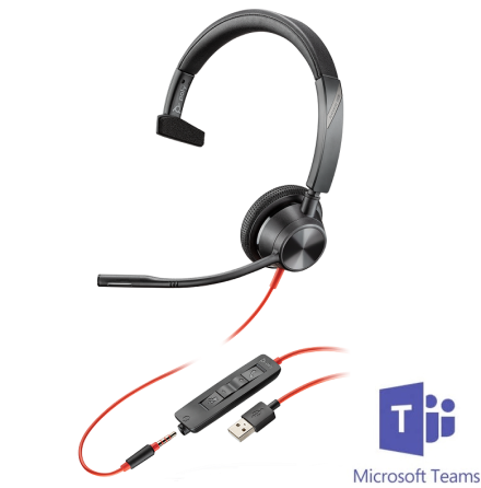 Plantronics BlackWire 3315 USB-A MS Teams