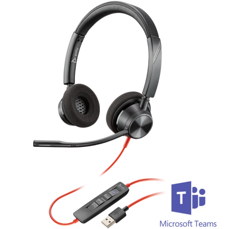 Plantronics BlackWire 3320 USB-A MS Teams