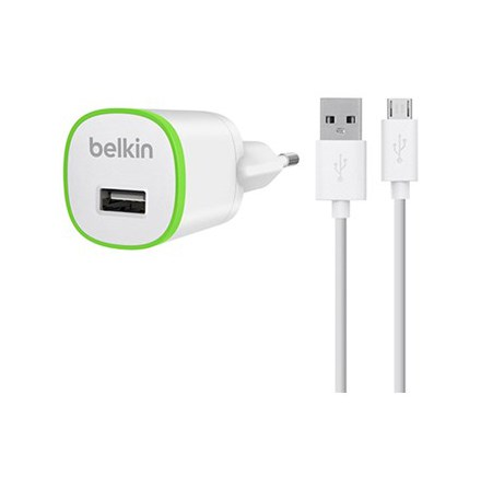 Belkin väggladdare + micro-USB 1A 1.2M White