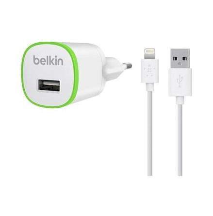Belkin väggladdare + lightning 1A 1.2m White