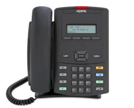 Nortel IP-Telefon 1210 Kol med Ikon Knappar utan nätaggregat