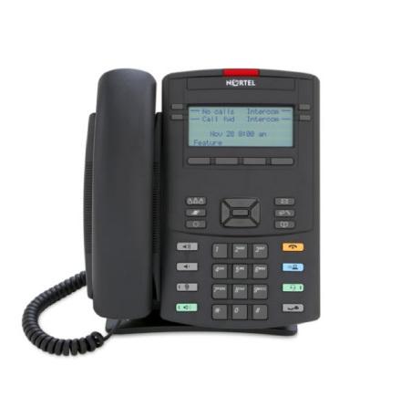 Nortel IP-Telefon 1220 Kol med Ikon Knappar utan nätaggregat