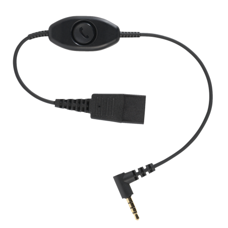 Jabra mobilkabel iPhone 6, 5S mm. Svarsknapp