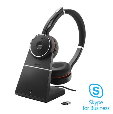 Jabra Evolve 75 med laddbas Skype