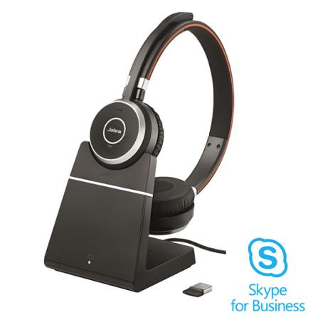 Jabra Evolve 65 Stereo med laddbas Skype