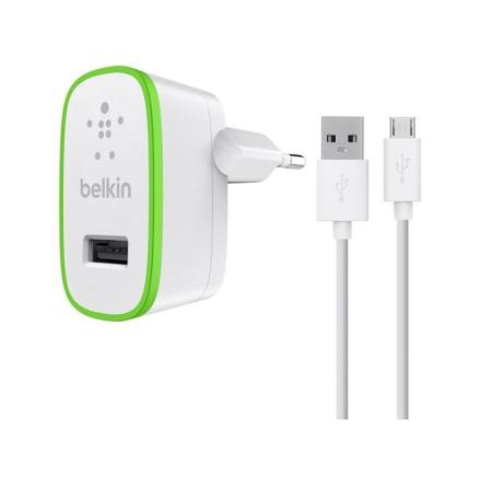 Belkin väggladdare + micro-USB 2.4A 1.2m White