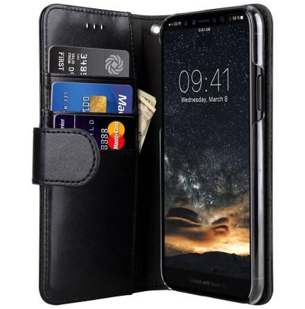 Melkco Walletcase iPhone X Black