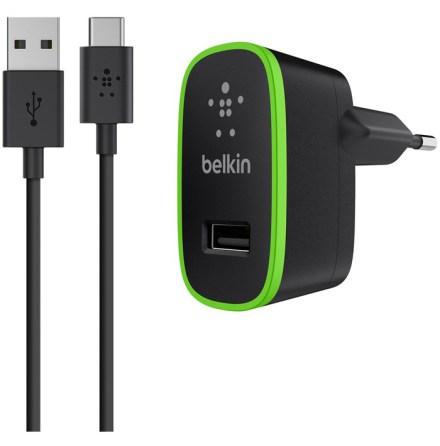 Belkin väggladdare + USB-C 1.8m Black