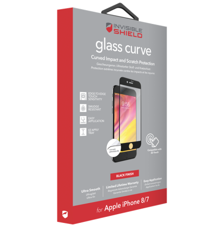 Invisible Shield Glass Curve (Fullscreen) iPhone 7/8 Black