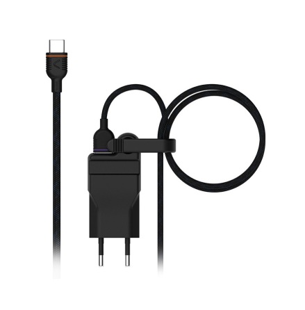 Unisynk strömadapter 2,4A + USB-C sladd