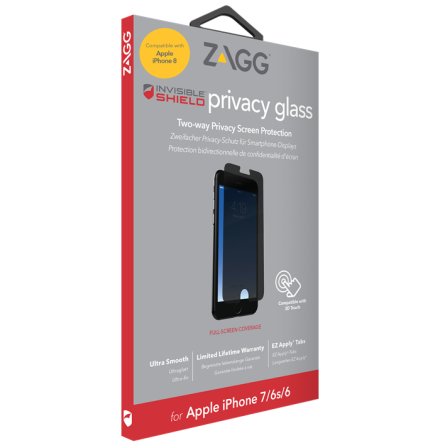 Invisible Shield Privacy glass+ iPhone 6/6s/7/8