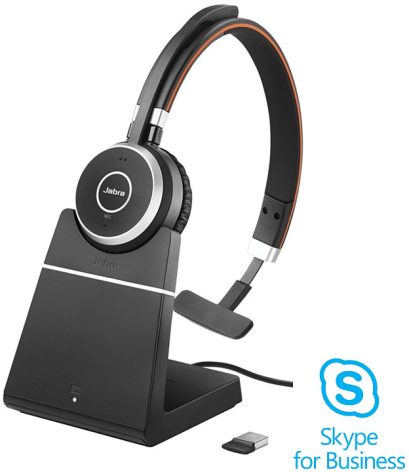 Jabra Evolve 65 Mono med laddbas Skype