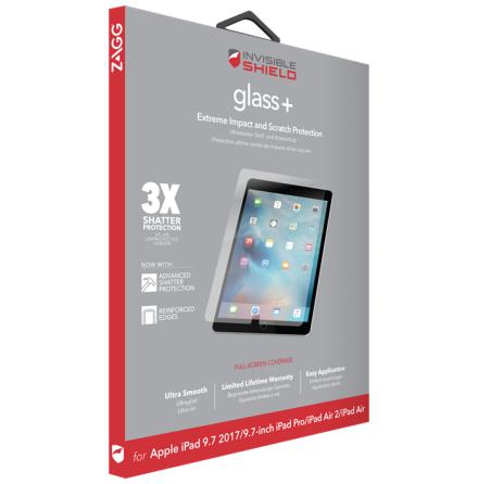 "Invisible Shield Glass+ iPad Air 2, iPad Pro 9.7"", iPad 2017, iPad 2018"